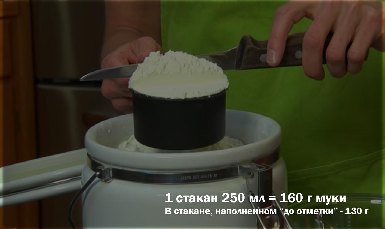 220 грамм муки это сколько стаканов?